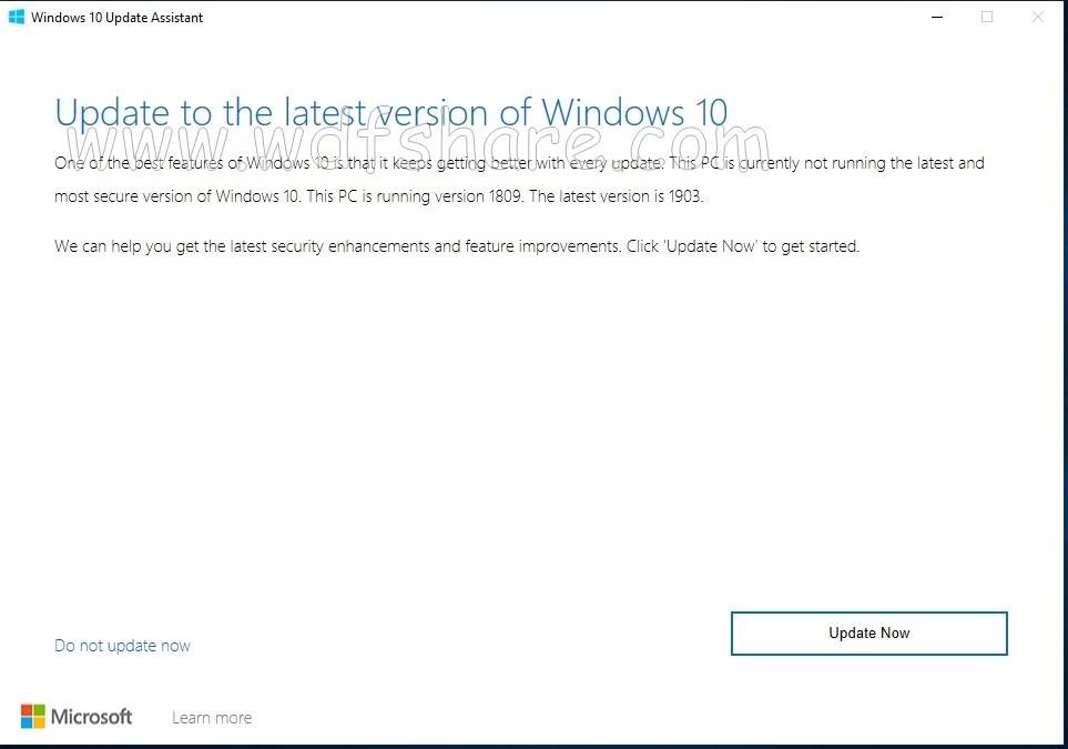windows terbaru 2019 1903 tidak dapat updatean di setting